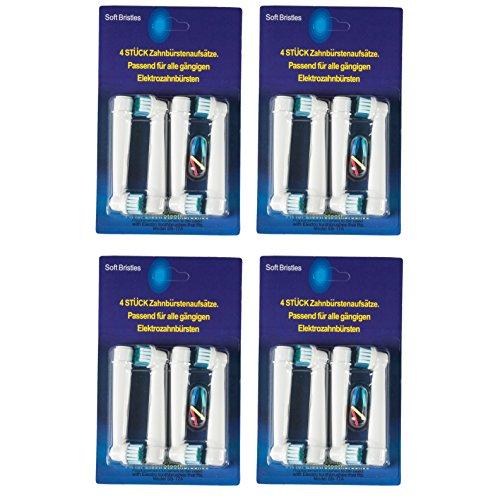 16 Aufsteckbürsten kompatibel für Braun Oral-B Zahnbürsten (16-Pack) -
