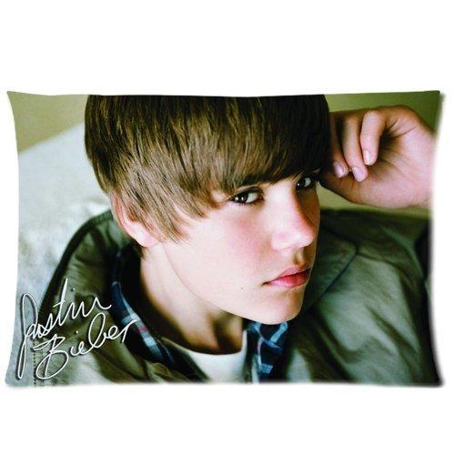 Musikwiedergabe kontrolliert-Star Motiv Justin Bieber Kissenbezug Standard Größe 20 x 30 cm, Kissenbezug, Baumwolle (2 Seiten) Nummer 5