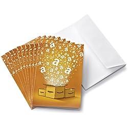 Tarjeta Regalo Amazon.es - €30 (Lote de 10 + tarjetas de felicitación)
