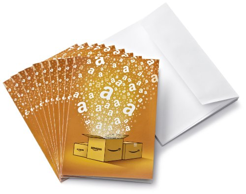 Amazon.de Grußkarte mit Geschenkgutschein - 10 Karten zu je 25 EUR (Alle Anlässe)