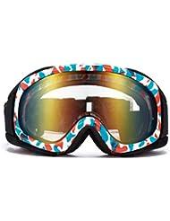 Gafas a prueba de viento,Doble capa Anti-niebla Gafas de ski Usar todo el día Buena visión clara Peso ligero Gafas-Azul