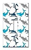 Art Plates Brand Single Toggle Switch/Wall Plate - Sharks Seamless