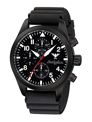 KHS Mens Watch Analogue Quartz with Silicone Wrist Band KHS.AIRBSC.DB