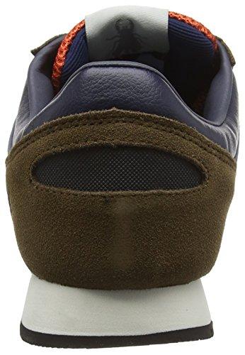 FLY London Pecu840fly, Baskets Basses Homme Marron (Brown/orange/blue 000)