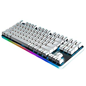 GANSS Rainbow RGB Backlit Wired Mechanical Gaming Keyboard, Mechanische RGB Gaming Tastatur G.S 87 Pro