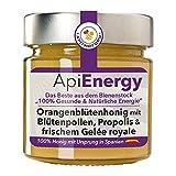 """""""ApiEnergy"""". Orangenblütenhonig mit frischem Gelée royale, Propolis und Blütenpollen, 300g"""