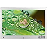 PicaVue Ultra Slim 7 inches Digital Photo Frame with Motion Sensor, Silver, SD/USB, Plays Photo Slideshow, Video, Audio