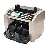 Aibecy Contadores de Billetes,Detector de Billetes Falsos con Pantalla LCD ,Color Oro