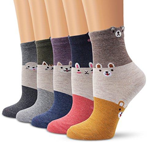 Ambielly calcetines de algodón calcetines térmicos Adulto Unisex Calcetines 5...