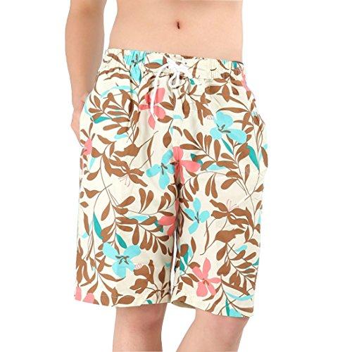 Leben da uomo 2015 estate Casual uomo esterni nuoto Surfing spiaggia vacanza pantaloncini Flower