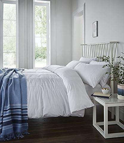 Catherine Lansfield Minimalist Parure de lit Blanc Pour lit 1 personne