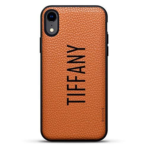 Luxuriöse Leder-Serie Schutzhülle für iPhone XR (15,2 cm / 15,2 cm), aus echtem Leder, mit Rückseite aus echtem Leder, 3D-Druckdesign in Clay Brown