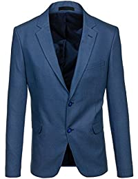 BOLF Herren Sakko Anzug Sweatjacke Classic Blazer Elegant Business Casual  4D4 0c6dc8494a