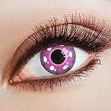 aricona Kontaktlinsen Einhorn Farblinsen pinke farbige Kontaktlinsen ohne Stärke für Unicorn Kostüme & Cosplay | bunte Manga Jahreslinsen