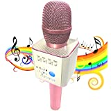 CGT Micgeek Q9 Bluetooth Microphone Speaker for iPhone with Carrying Case (Pink)