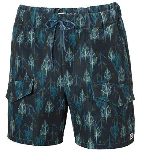 Helly Hansen Solen - Pantalones Cortos para Hombre, Hombre, 62955, Estampado Deep Lagoon, Extra-Large...
