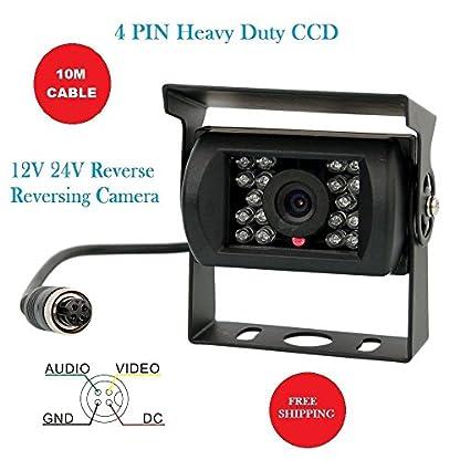 Camecho-12V-24V-4-Pins-18-LEDs-IR-Nachtsicht-wasserdicht-Kamera-10-m-4-Pins-Kabel-fr-AutoBusLKWAnhngerWohnwagenWohnmobilHeavy-Rckseite