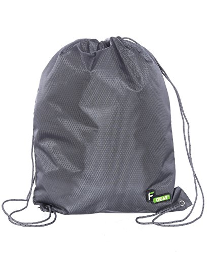 F Gear String V2 8 Ltrs Nylon Grey Gym Bag  available at amazon for Rs.299