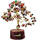 Real Seed Feng Shui Natural Crystal Quartz Gem Tree For Wealth, Fortune, Love And Relationships (150 Gems)