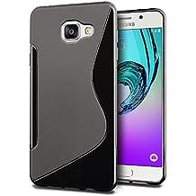 Funda Samsung Galaxy A3 2016, SLEO Slim Fit TPU Carcasa de Parachoques Case Traslúcido Suave con Absorción de Impactos y Resistente a los Arañazos para Samsung Galaxy A3 2016 - Negro