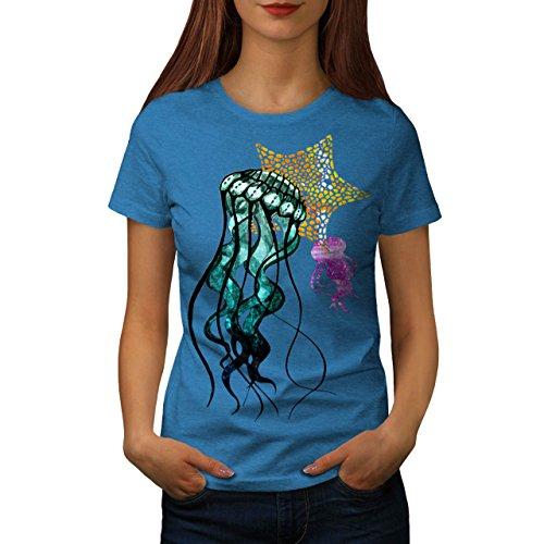 Gelee Fisch Niedlich Tier Damen Schwarz S-2XL T-shirt | Wellcoda Königsblau