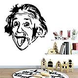 Livraison Gratuite Einstein Avatar Wall Sticker Home Decor Salon Chambre Amovible Amovible Décor Stickers Muraux Doux rose 58 * 62CM...