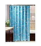 SonMo Duschvorhang Fisch Peva Blau Anti-Bakteriell Anti-Schimmel Wasserdichtbadezimmer Vorhang mit Duschvorhangringen 120×180CM