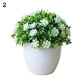 Shangwelluk 1Pc Pianta Artificiale in Vaso di Fiori Finti Piante Finte Vasi Piante Fiori Artificiali per Home Office Flower Pot