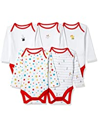 Mothercare   Regular Fit Cotton Bodysuit  (Pack of 5)