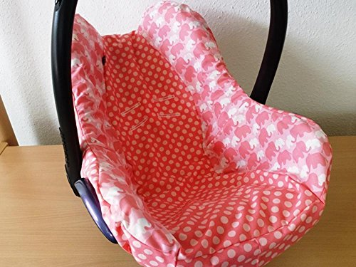 Atelier MiamMia Kindersitz Bezug, Babysitzbezug, Babyschale Bezug Neu für Maxi Cosi City, Pepple, Cabrio Fix, Priori, Pearl, Safety One, Hauck Zero, Recaro Privia, Römer King, Baby Safe, Cybex Anton,
