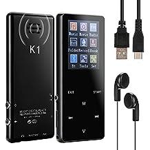Olycism Reproductor de MP3 Bluetooth 16GB Reproductor de música con sonido portátil Altavoz incorporado con video E-Book Grabación digital Función de radio FM, soporte para tarjeta TF de hasta 128GB