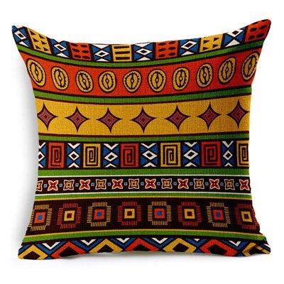 MAYUAN520 Zierkissen Vintage Baumwolle Afrika Geometrie Stripe Wave Polsterbezüge Böhmischen Dekorative Kissen Sofa Kissenbezüge Produkt Werfen, Beige, Beige -