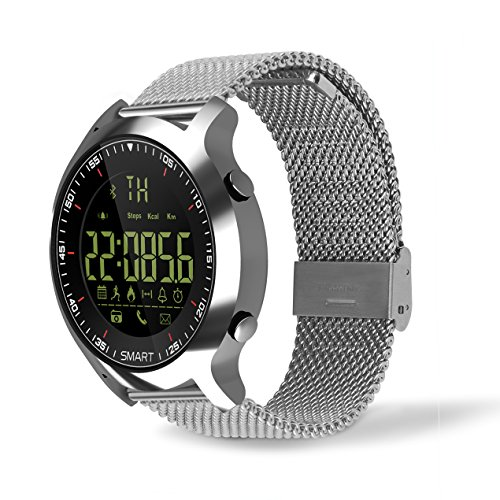 Sport-Smart-Watch-AOWO-X6-Bluetooth-40-5-ATM-Wasserdicht-IP67-Extra-Big-Akku-Kapazitt-12-Monate-Standby-Zeit-Fernbedienung-Kamera-Android-und-iOS-Smart-Phone-Armbanduhr-fr-Herren