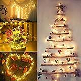 Guirlande Lumineuse Solaire, VegaHome 2 x 10M 100 LED Guirlande Solaire Lumineuse Extérieur, 8 Modes Étanche Fil de Cuivre pour la Décoration Chambre Jardin Patio Mariage Soirée Fête Noël etc.
