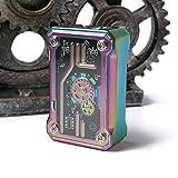 Autentica Sigaretta Elettronica Tesla Punk 220W TC Box MOD, Schermo OLED, Ecig, Vape Enorme, Borsa Vifun No Nicotina, No E Liquido (Rainbow)