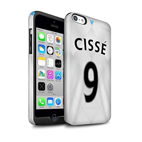 Offiziell Newcastle United FC Hülle / Glanz Harten Stoßfest Case für Apple iPhone 5C / Pack 29pcs Muster / NUFC Trikot Away 15/16 Kollektion Cissé