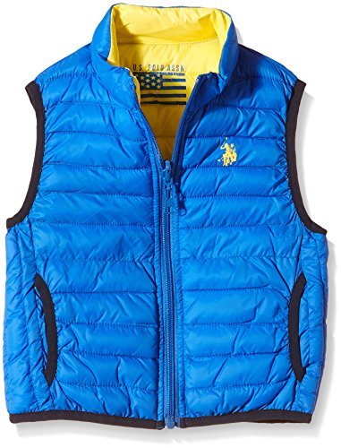 U.S. Polo Assn. - Giubbotto senza maniche USPA Jkt, Unisex Bambino, Reversible Royal/Yellow (571), 8