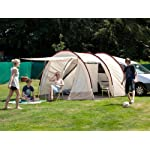 Skandika Camper Tramp Free-Standing Minivan Awning Tent with 2-Berth Sleeping Cabin and 210 cm Peak Height, Sand/Red, 2 Persons 11