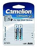 Micro-Batterie CAMELION Lithium 1,5V, Typ AAA/FR03, 2er