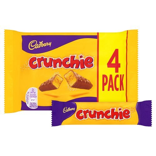 Cadbury Crunchie Chocolate Bar, 4x26.1g