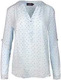 1eaa5b6f174b9 Zwillingsherz Bluse Damen mit Sternen - Sommer Hemd - Hochwertige Schöne  und luftige Tunika/Chiffon Blusen für…