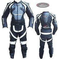 Lederkombi Motorrad Leder Kombi von PROANTI® Motorradkombi 2 Teiler Größen: 46-58