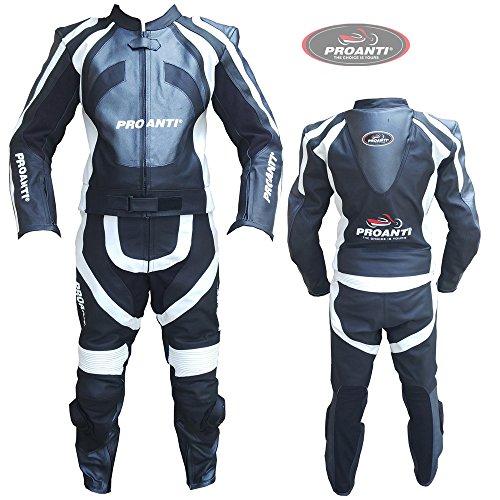 Lederkombi Motorrad Leder Kombi von PROANTI® Motorradkombi 2 Teiler Größe: 50