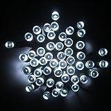 Lixada Guirlande 100 LED solaire pour Noël, fête, décoration du jardin, mariage Blanc 17 m