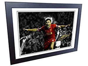 12x8 A4 Signed Steven Gerrard Liverpool FC Autographed Photo Photograph Picture Frame from kicks