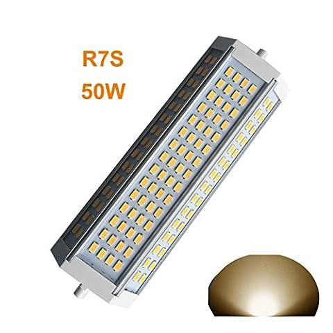Generic R7s Ampoule LED à intensité variable 50W Lumière chaude