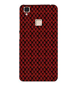 EPICCASE reddish flower Mobile Back Case Cover For VIVO V3 (Designer Case)