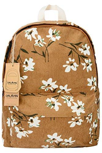 Oflamn Vintage Rucksack für Damen - Schulrucksack Laptop Backpack für Mädchen - Reisetaschen Weekender Damen (tan)