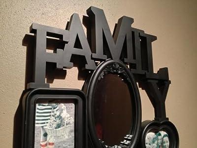 3D Family Fotorahmen Bilderrahmen Collage Bilder Rahmen Spiegel Wandspiegel Neu Farbe Schwarz