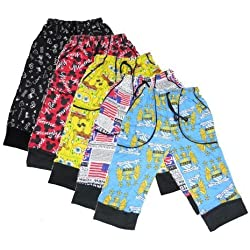 New Day Boys Cotton Three Fourth Pant 75 cm 5 Piece Combo